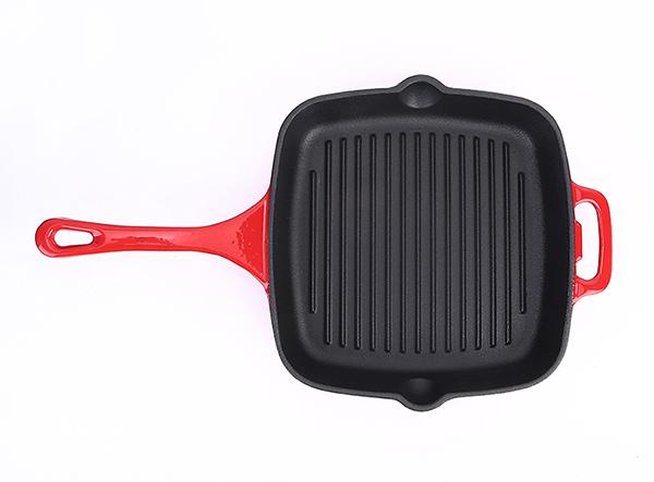 11 inch cast iron Loop help handle frying grill pan