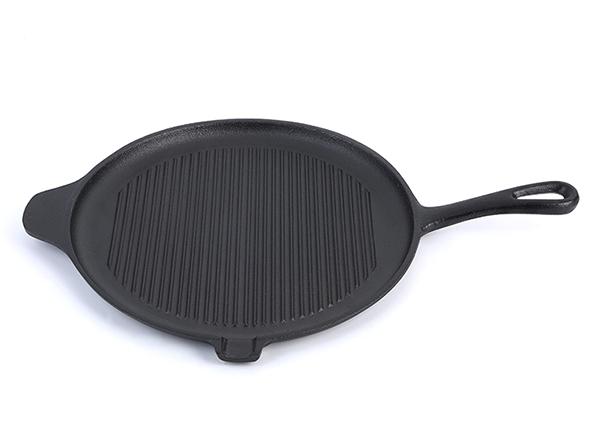 Pre-seasoned cast iron grill pan