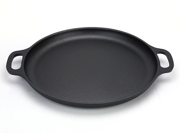 Pre-seasoned cast iron pizza pan