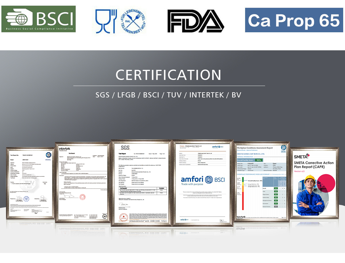 3 piece cast iron skillet set certificate