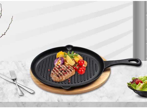 Cast Iron Steak Grill Plate