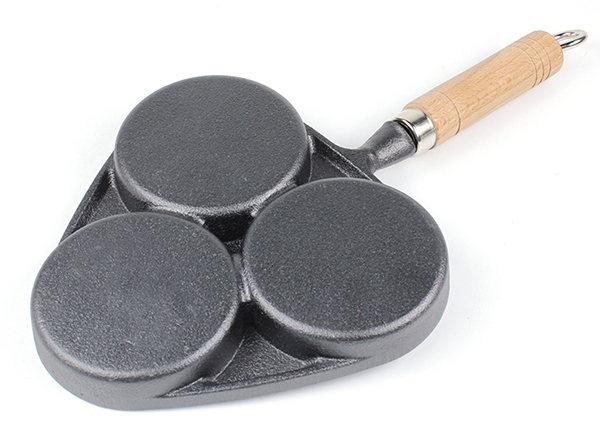 mini breakfast divided cast iron skillet omelette fry pan
