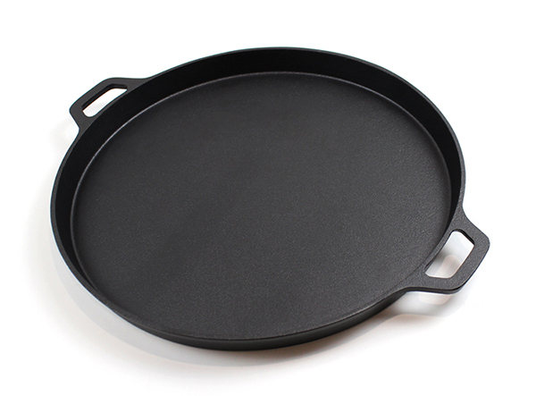 14 Inch Round Cast Iron Flat Baking Pie Pan Pizza Pan