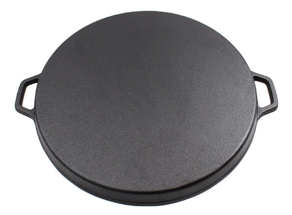 14 Inch Round Cast Iron Flat Baking Pie Pan Pizza Pan