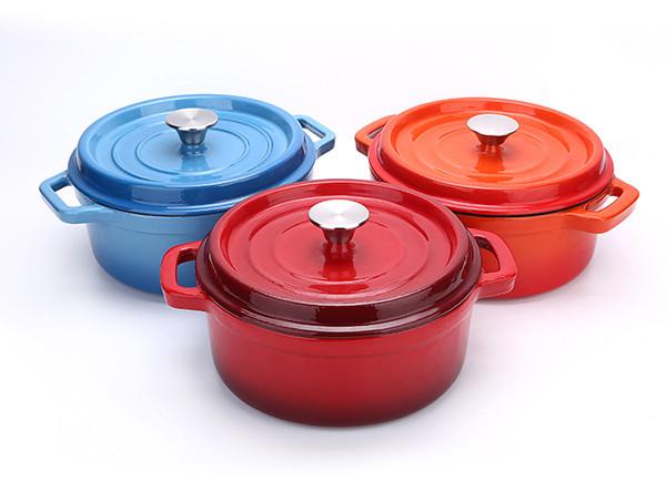 Cast Iron Enamel Kitchen Cookware Food Pot Casserole Dish