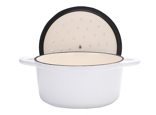 White Enamel Cast Iron Casserole
