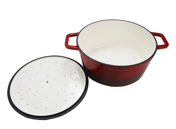 Chinese Enamel Cast Iron Large Size Stock Soup Pot Cooking