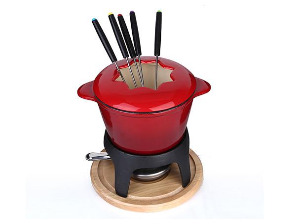 Cheap Mini Cast Iron Chocolate Cheese Fondue Pot Set