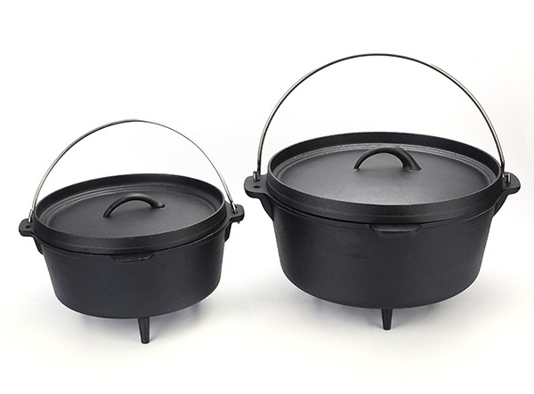 Three Legs Camp Outdoor Camping Cookware Cast Iron Dutch Oven