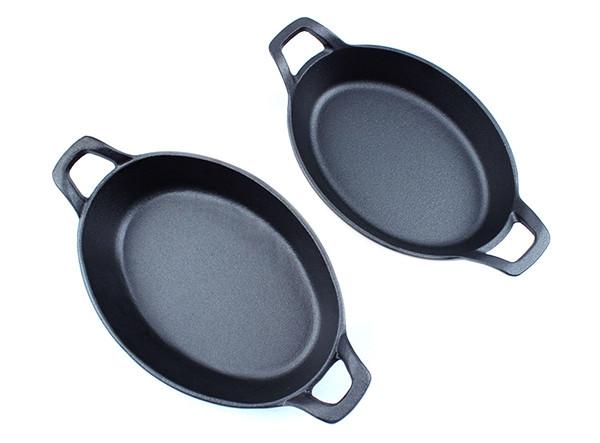 Cast Iron Round Dish Pan Kitchen Cast Iron Oval Dish
