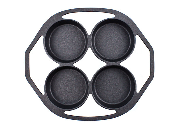 Camping or Indoor Cake Cupcake Mold Poffertjes Pan Cast Iron Muffin Pan for Baking Biscuit