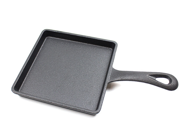 Pre-Seasoned Portable Small Mini Square Frying Pan Cast Iron Skillet
