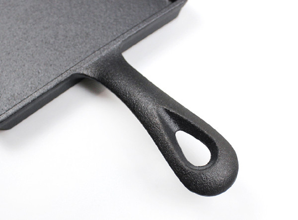 Pre-Seasoned Portable Small Mini Square Frying Pan Cast Iron Skillet
