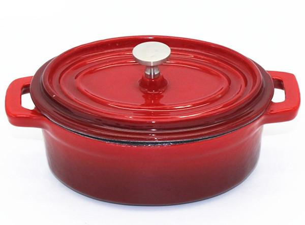 Mini Oval Cast Iron Enamel Pot
