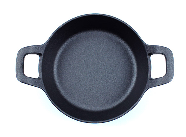 Mini Small Round Cast Iron Skillet Fry Pan with two ear Handle