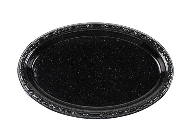 black glitter cast iron baking enamel small dish pan kitchen cast iron oval dish pan