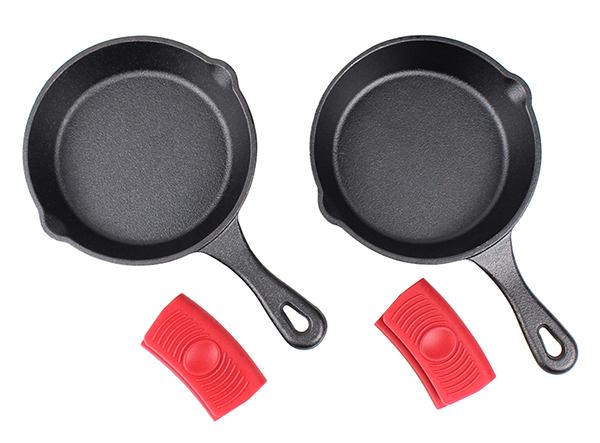 small size 15cm portable cast iron skillet roasting frying pan set