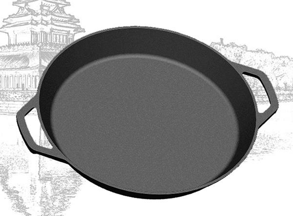 cast iron deep pizza pan