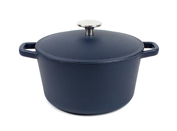 Cast Iron big matte beauty blue Enamel Cooking Casserole round roaster dutch oven