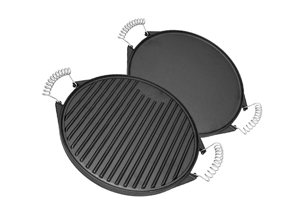 cast iron frying pan grill pan griddle plate with spring handle