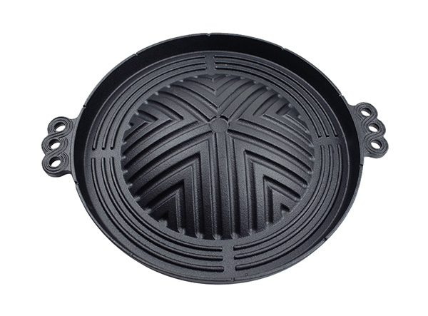 outdoor camping korean bbq grill plate stovetop barbecue cast iron korean bbq grill pan