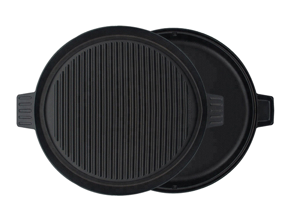 cast iron round grill pan griddle plate