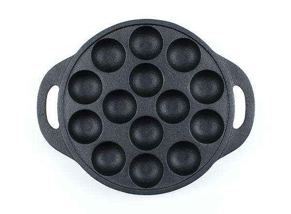 14 hole cast iron Japanese Food Octopus Ball Dutch Pan cake cooking egg poacher poffertjes Takoyaki pan