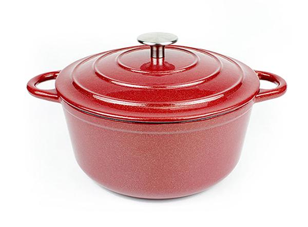 Cast Iron glitter Enamel Cookware Cooking Soup Pot casserole